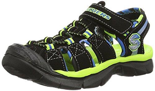 SKECHERS Kids' Relix Water Sandal Pre/Grade School (Black/Lime 11.0 M)
