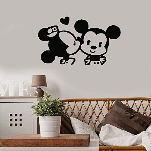 wandaufkleber 3d Mickey And Minnie Switch Aufkleber Beauty Fashion Modernes kleines Ornament