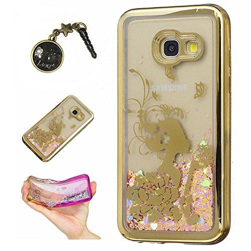 Preisvergleich Produktbild Laoke für Samsung Galaxy A3 (2017) Hülle Schutzhülle Handy TPU Silikon Hülle Case Cover Durchsichtig Gel Tasche Bumper ( + Stöpsel Staubschutz) (1)