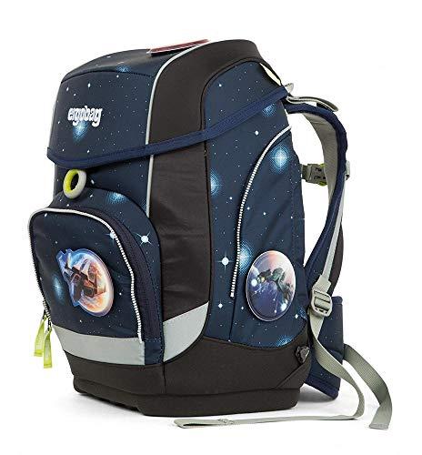 Ergobag cubo KoBärnikus Galaxy, ergonomischer Schulrucksack, Set 5-teilig, 19 Liter, 1.100 g, Blau