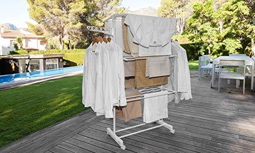Top SHOP newteck Tendedero Maxi Compact 4niveles dobles y 2alas laterales blanco