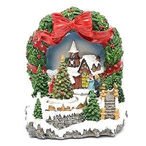 Gifts 4 All Occasions Limited SHATCHI-838 - Juego de decoración navideña para el hogar con luces LED