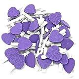30mm weiß Wäscheklammer mit 17mm Lila Holz Herz Craft für Shabby Chic Vintage Hochzeit lila