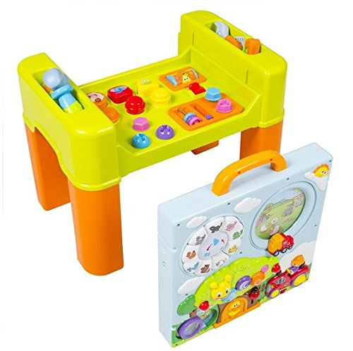 Early Education 2 Years Olds Baby Toy Learning Activity intellectual Table  With Quiz, Music, Lights,Shapes, Animals For Children & Kids Boys and Girls