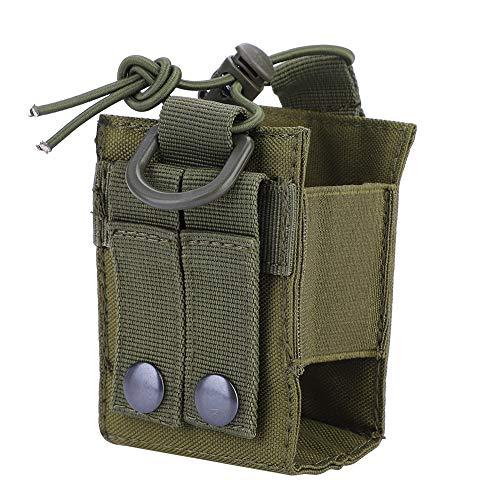 Dilwe Walkie Talkies Tasche, langlebig leichte Molle Pouch Walkie´Talkie Case Molle Radio Hüfttasche für den militärischen Einsatz im Freien(Grün) Tasche Pouch Case