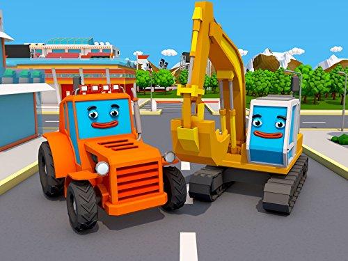 Traktor ung Gelb Bagger