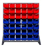 EisenRon DS-tec - Boxenregal Farbe: rot / blau 18 rote und 24 blaue Lagerboxen 230 X 140 X 130 mm Höhe: 115 cm Breite: 102,5 cm