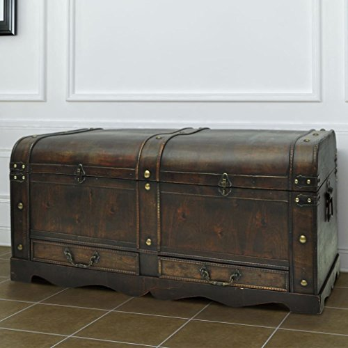 Lingjiushopping Vintage - Baúl madera tamaño grande