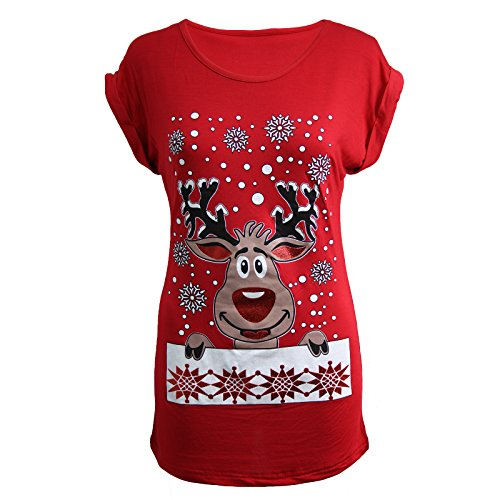 Ladies Christmas Reindeer Top