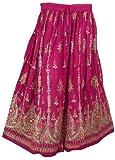 Entwerfer Druck Rayon Rock Frühlings Sommer Indien Kleidung (Magenta)