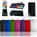 Flip PU Leather Wallet Flips Down Case Cover For Sony Xperia / Experia E1 (D2004- D2005) (Black)