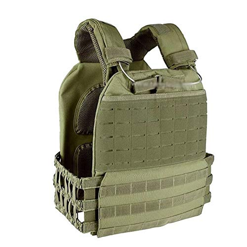 RZRCJ Outdoor Sports Körperschutz Combat Assault Vest Weste Tactical Molle Vest Plate Carrier Vest (Color : Olive Drab) - Paintball Weste Olive