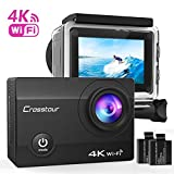 Action Kamera 4K CROSSTOUR Unterwasserkamera Wi-Fi wasserdicht Sports Cam Ultra Full HD 2' LCD...