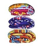 #8: Goyal's Printed Fleece Single Bed Blanket(Set of 3)