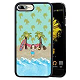 Augen und Lippen iPhone 7 Plus/iPhone 8 Plus Handy Fall, stoßfest Soft TPU + Premium PC Fall für iPhone 7 Plus/8 Plus 14 cm Aloha Baby