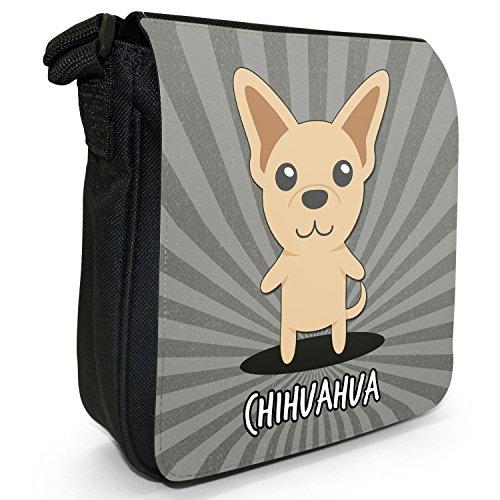Piccola Borsa A Tracolla Per Cani Di Tutto Il Mondo In Tela Nera Chihuahua, Messico, Messicano