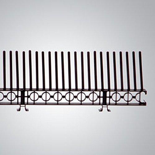Traufenlüftungselement mit Kamm, Kunststoff, Länge: 1 m, Höhe Lüftungsleiste: 30 mm, Farbe: Schwarz