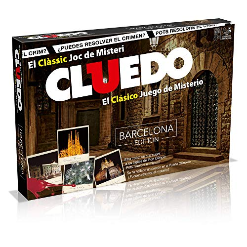 Cluedo Barcelona. Juego Mesa Misterio- Versión bilingüe