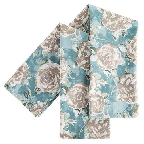 Ragged Rose Tracy Chiffons, Motif Floral, Lot de 2, Bleu
