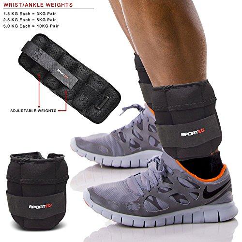 Spq 1.5kg, 2.5kg, 5kg caviglia polso pesi esercizio fitness palestra di resistenza allenamento pesi, rimuovere in grado di pesi (1.5)