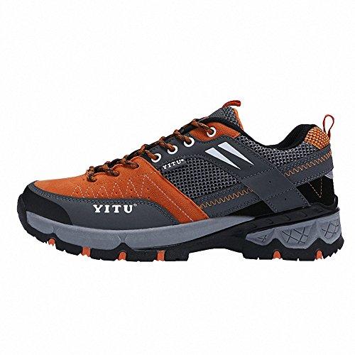 Ben Sports Chaussures de Randonnée Trail Running Sports Homme Femme,36-45 Orange