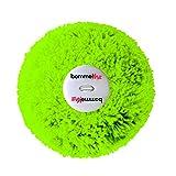 bommelME Wechselbommel aus Wolle mit Knopf für alle BommelME Beanies und Anhänger, Farbe: Neongrün