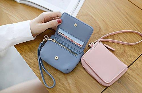 CLOTHES- Borsa della moneta della borsa della borsa della moneta del raccoglitore delle signore Versione coreana della borsa quadrata semplice della personalità semplice ( Colore : Nero ) Blu