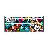 JullyeleDEgant Slim Design Tablets Tastaturabdeckung Bunte Tastatur Schutz Flim Haut Aufkleber Geeignet für MacBook Air 13 Zoll