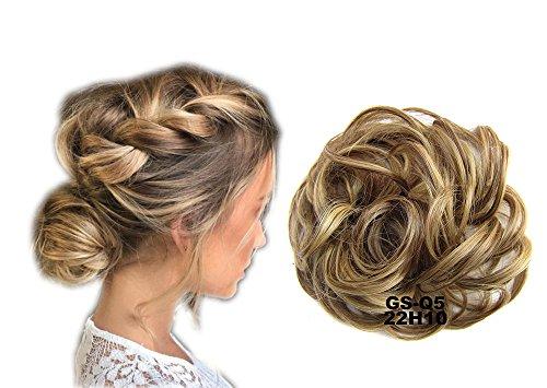ShowPower Frauen Peruecke Knospe Kopfring Pferdeschwanz Haarteil Ref: Asche Blond & Medium Golden Braun 22H10 #