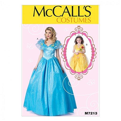 Prinzessin Kostüm Plus - McCall 's Damen und Mädchen Schnittmuster 7213Prinzessin Ballkleid Fancy Dress Kostüm + gratis Minerva Crafts Craft Guide