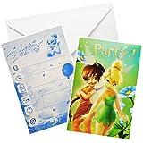 Unbekannt 30 TLG. Set _ Einladungskarten inkl. Umschlag -  Disney Fairies - Tinkerbell  - Mädchen / Kindergeburtstag - Geburtstag - Schulanfang Einladung Karte - Schu..