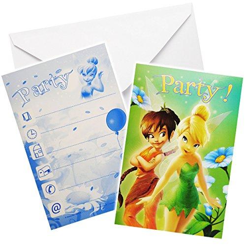 alles-meine.de GmbH 30 TLG. Set _ Einladungskarten inkl. Umschlag -  Disney Fairies - Tinkerbell  - Mädchen / Kindergeburtstag - Geburtstag - Schulanfang Einladung Karte - Schu..