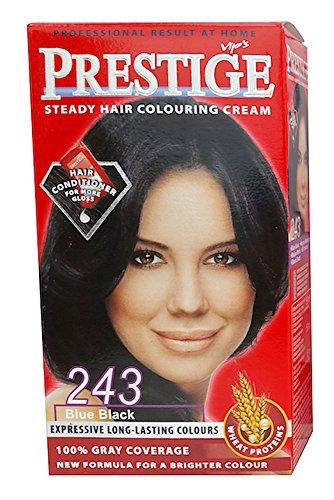 Vip's Prestige - Crème colorante pour cheveux, couleur noir bleuâtre N243