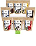 ALPENPOWER | BIO WHEY Protein Probierbox- 8 Sorten | Ohne Zusatzstoffe | 100% natürliche Zutaten | Bio-Milch aus Bayern und Österreich | Superfoods | 8 x 65g