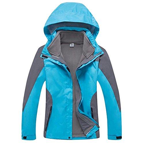 GITVIENAR Damen Outdoor 3 in 1 Jacken Mit Kapuze Bergsteiger und Samtkoffer Kleidung warm Wasserdicht Atmungsaktiv Softshell Multifunktions Damen Jacke atmungsaktive warme Weibliche Ski Kletter Anzug warm Kleidung