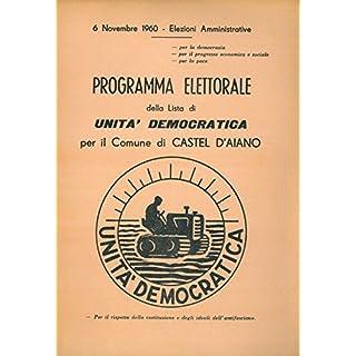 Programma elettorale della lista di Unita' Democratica per il Comune di Castel d'Aiano.