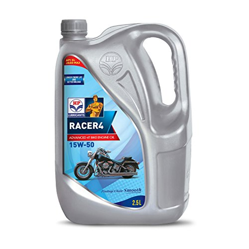 HP Lubricants Racer4 15W-50 API SL Engine Oil for Bikes (2.5 L) Best Online Shopping Store