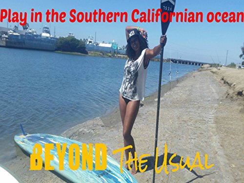 Play in the Southern Californian ocean Video Jet-board