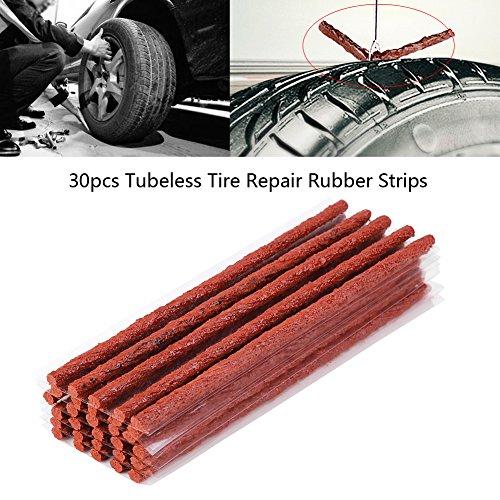 Qiilu-30Pcs-gomma-tubeless-riparazione-strisce-di-gomma-kit-pneumatico-puntura-riparazione-sigillante-200-6mm-per-fuoristrada-auto-moto-motore-ATV-utv-suv-carriola-falciatrice
