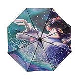 LYJZH Regenschirm, Winddichter, Stabiler Und Kompakter Großschirm, Schnell Trocken, Constellation...