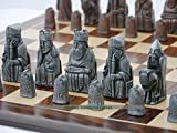 Berkeley Chess Isle of Lewis Chess Set - Steel and Copper Finish