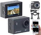 Somikon Helmkamera: UHD-Action-Cam DV-3717 mit WLAN, Sony-Bildsensor und App, IPX8 (4K-Actioncam)