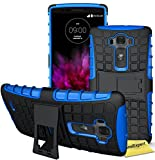 LG G Flex 2 Handy Tasche, FoneExpert® Hülle Abdeckung Cover schutzhülle Tough Strong Rugged Shock Proof Heavy Duty Case für LG G Flex 2 + Displayschutzfolie (Blau)