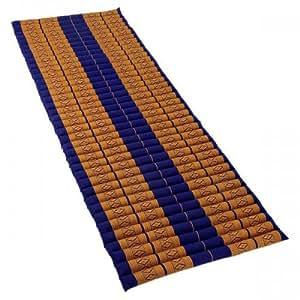Matelas Thai enroulable - Tapis de yoga - Capoc/coton - XL - Freedom Beach 190x75x8 cm Thai51