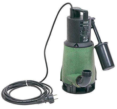 DAB FEKA 600M-A Tauchpumpe mit Schwimmer für Drainage von Abwasser zu Zuhause 0,55kW/0,75HP einphasig (103022214) (1 Hp Tauchpumpe)