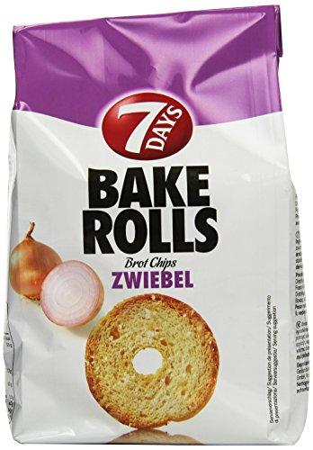 7Days Bake Rolls Zwiebel, 8er Pack (8x 250 g Beutel)