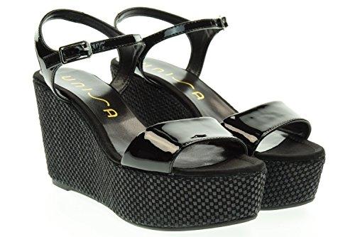 UNISA donna sandali con la zeppa LITUAN_PA BLACK 37 Nero