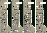 Parker Quinkflow Kugelschreiberminen, mittlere Spitze, Schwarz, 4 Stück