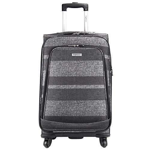 HIGHBURY Spinner Roue - 4 Valise à roulettes-Large -28INCH (Gris à rayures