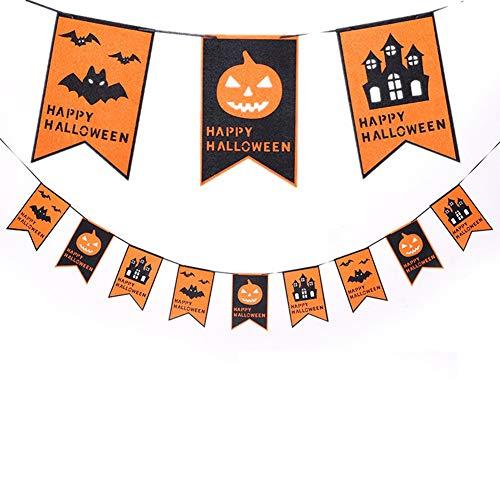 Moolila Halloween Spider zieht die Flagge Dreiecksflagge, elegantes Design, doppelseitig, für Innen- und Außenbereich, Party-Dekoration, Geburtstagsparty, 16 x 25 cm (Innen Halloween-dekorationen Diy Für)